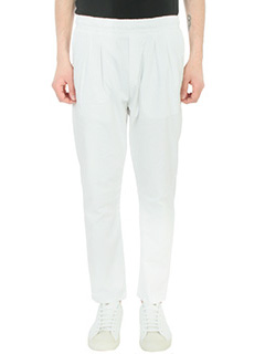 Low Brand-Pantalone T 4.20 in cotone bianco