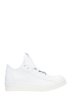Cinzia Araia-Sneakers basse in pelle bianca-lacci