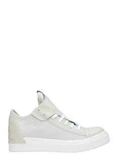 Cinzia Araia-Sneakers basse in pelle e tessuto bianco gesso
