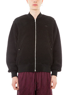 Adidas per Alexander Wang-Bomber Reversible in eco sheepskin nero