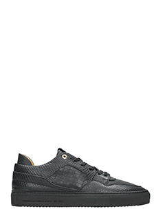 Android Homme-Sneakers Omega in pelle nera
