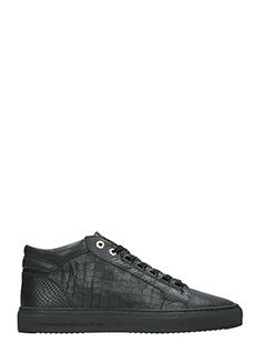 Android Homme-Sneakers Propulsion Mid in pelle nera