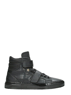 Android Homme-Sneakers Propulsion High in pelle nera