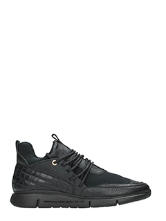 Android Homme-Sneakers Runyon Runner in pelle nera-lacci