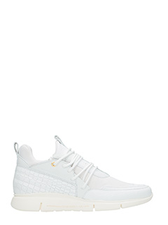 Android Homme-Sneakers Runyon Runner in pelle bianca-lacci