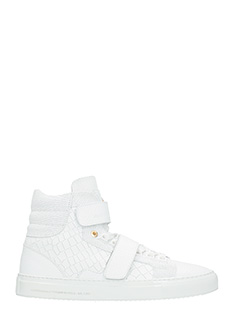 Android Homme-Sneakers Propulsion High in pelle bianca
