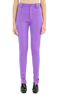 Balenciaga-Pantaloni in viscosa viola