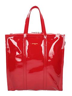 Balenciaga-Borsa Bazar Shopper M in vernice rossa