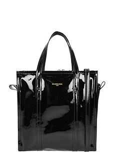 Balenciaga-Borsa Bazar Shopper S in vernice nera