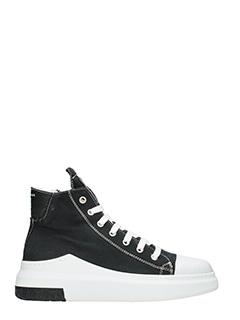 Cinzia Araia-Sneakers alte in canvas nero