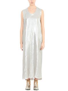 Golden Goose Deluxe Brand-Vestito Tank Dress in tessuto lam� argento