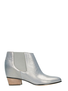 Golden Goose Deluxe Brand-Tronchetti Dana in pelle perlata argento