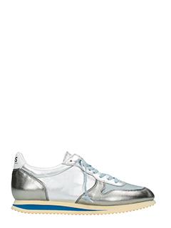 Golden Goose Deluxe Brand-Sneakers Haus Swan in pelle laminata argento