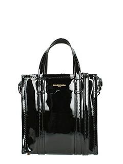 Balenciaga-Borsa Bazar Shopper Xs in vernice nera