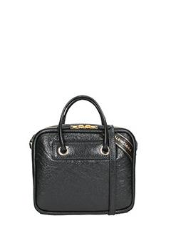 Balenciaga-Borsa Blanket Square S in pelle nera