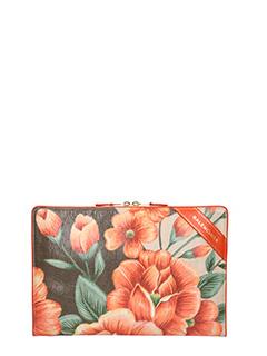 Balenciaga-Pochette Blanket in pelle con stampa floreale