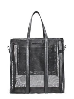 Balenciaga-Borsa Bazar Shopping M in nylon nero