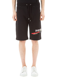 Kenzo-Shorts Broken Camo in cotone nero