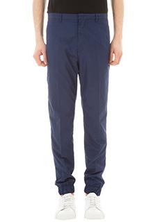 Kenzo-Pantalone Suit Sweat in tessuto tecnico blu