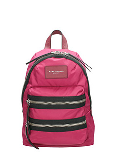 Marc Jacobs-Zaino Biker  Mini Backpack in nylon rosa