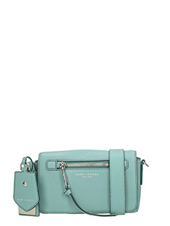 Marc Jacobs-Borsa Recruit Crossbody in pelle celeste