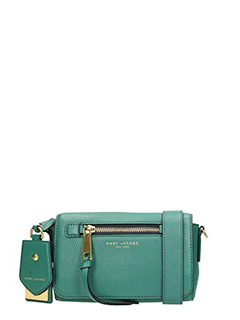 Marc Jacobs-Borsa Recruit Crossbody in pelle verde
