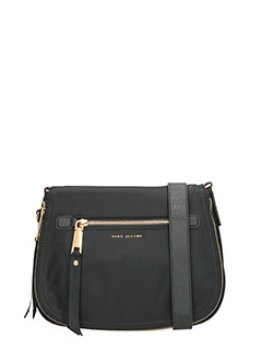 Marc Jacobs-Borsa Trooper Nomad Saddle in nylon nero