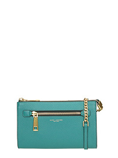 Marc Jacobs-Pochette Gotham Small Crossbody in pelle  verde acqua