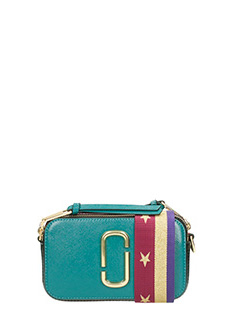 Marc Jacobs-Borsa Snapshot Camera bag in pelle verde acqua