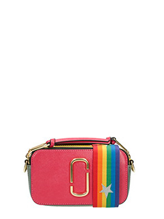 Marc Jacobs-Borsa Snapshot Camera bag in pelle rosa multicolor