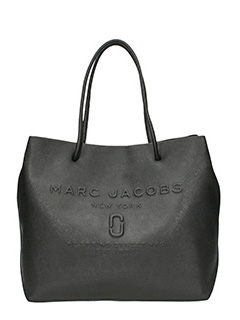 Marc Jacobs-Borsa Shopper East-West Tote in pelle nera