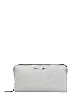 Marc Jacobs-Portafoglio Standard Continental in pelle saffiano bianca