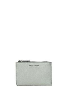 Marc Jacobs-Portamonete in pelle acciaio