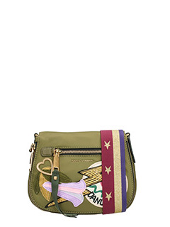 Marc Jacobs-Borsa Small Nomad Saddle  in tessuto verde