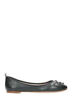 Marc Jacobs-Cleo  black leather ballet flats