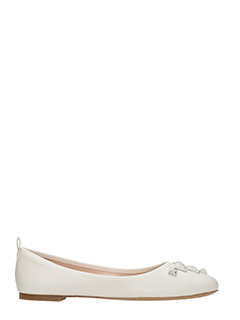 Marc Jacobs-Cleo beige leather ballet flats