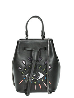 Kenzo-Borsa Mini Eye Bucket  in pelle nera