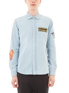 Kenzo-Camicia patch in denim