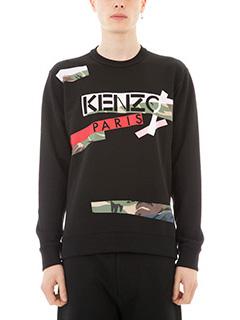 Kenzo-Felpa in cotone nero