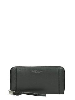 Marc Jacobs-Portafoglio Standard Continental in pelle saffiano nera