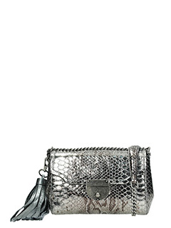 Marc Jacobs-Borsa Metallic Basic in pelle argento scuro