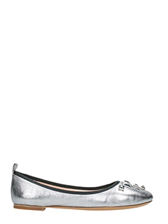 Marc Jacobs-Cleo  silver leather ballet flats