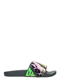 Marc Jacobs-Slides Cooper Punk in pelle multicolor animalier