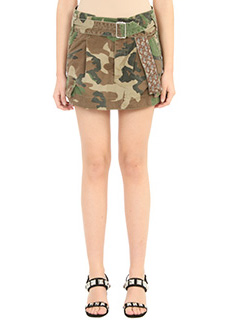 Marc Jacobs-Gonna cargo in cotone camouflage verde