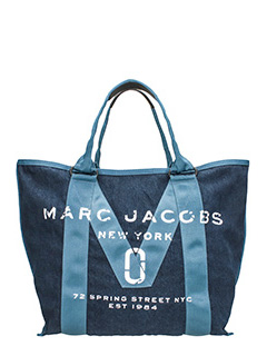 Marc Jacobs-Borsa Tote in denim di cotone blu