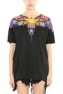 Marcelo Burlon-T-Shirt Filipa in cotone nero