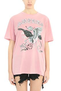 Marcelo Burlon-T-Shirt Yesica in cotone rosa