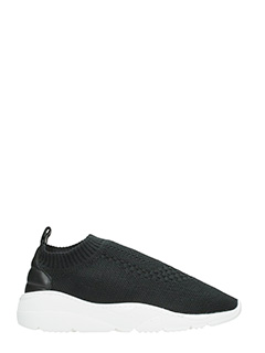 Filling Pieces-Sneakers Runner  in tessuto elastico nero