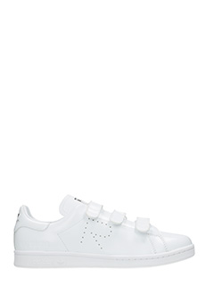 Adidas By Raf Simons-Sneakers Stan mith basse in pelle bianca