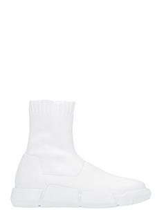 Elena Iachi-Sneakers in tessuto elastico bianco
